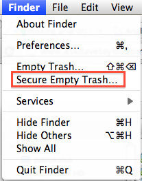 Secure Delete from the Finder Menu